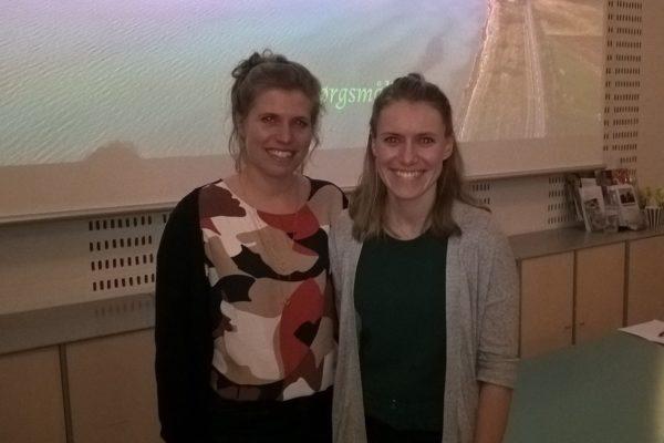 Billede fra foredraget Livet på øerne med Sarah og Tine