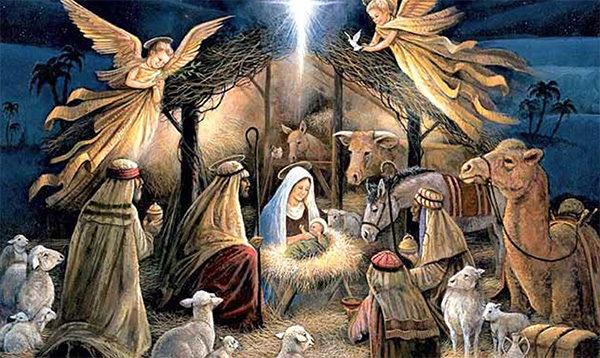 Billede af jomfru Maria og de 3 visemænd