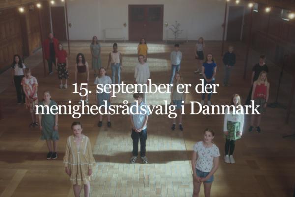 Billede med teksten 15. september er der menighedsrådsvalg i Danmark