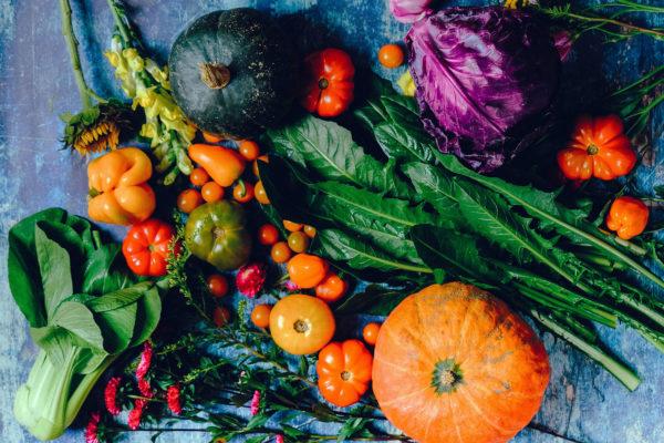 Tilfældigt billede af grøntsager til brug for høstgudstjeneste
