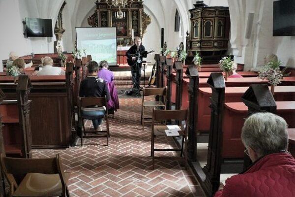 Billede fra musikforedrag med Jens Stage