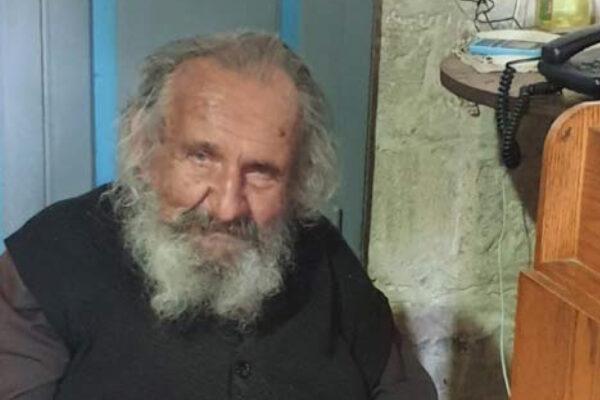 Billedet viser 86 år gamle græsk-ortodokse munk Gerissimos Vourazanidis fra 40 dages klosteret på Fristelsens Bjerg ved Jeriko