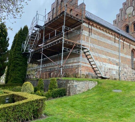 Særløse Kirke under renovering